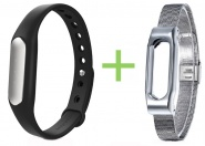 Фитнес-браслет Хiaomi Mi Band Black + ремешок Milanese Metal Wrist Band