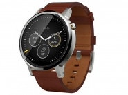 Умные часы Motorola Moto 360 2nd Gen Mens 46mm (Silver/Cognac Leather)