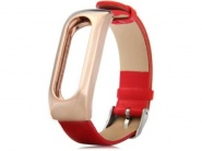 Xiaomi Leather Wrist Band Red/Gold сменный ремешок для Xiaomi Mi band