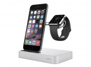 Док-станция Belkin Valet Charge Dock для Apple iPhone и Apple Watch (Silver)