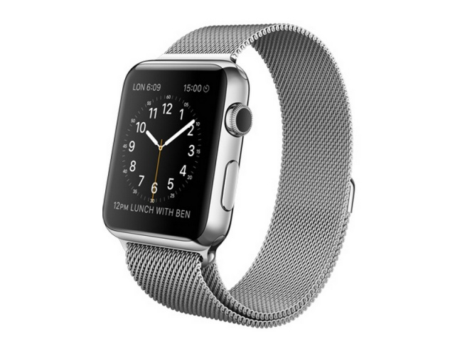 Apple Watch 42mm Stainless Steel Case Milanese Loop смарт-часы
