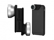 Объектив Olloclip 4-in-1 (Silver/Black) + чехол OlloCase для iPhone 6 Plus (Gray/Black)
