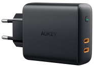 Сетевое зарядное устройство Aukey Dual-Port 36W PD Wall Charger with Dynamic Detect (Black)