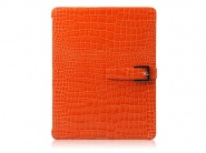 Zenus Prestige Prima Croco Orange чехол-книжка для iPad 2/3/4