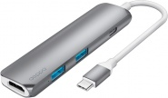 USB-концентратор Deppa Power Delivery USB-C 73118 (Graphite)