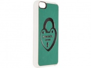 Чехол Benjamins Green Lucid Leath W/Silv Lock для iPhone 5С (White/green)