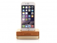 Док-станция Samdi Charger Dock для Apple iPhone (Wood/Gold)
