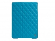 Jison Quilted Leather Cover Blue чехол  для iPad air