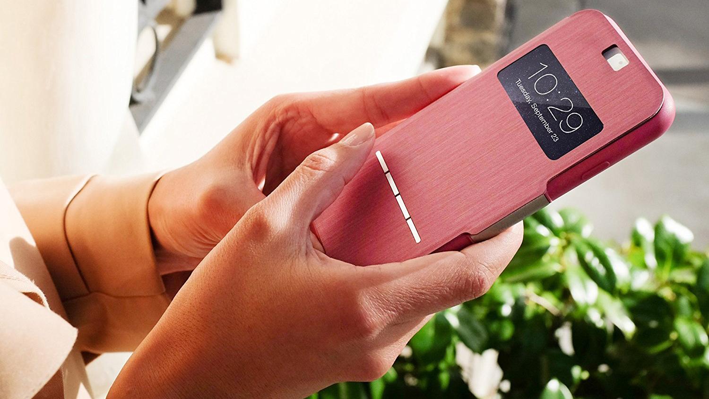 Чехол Moshi SenseCover для iPhone 5/5S из кожзаменителя. Цвет чехла: черный.