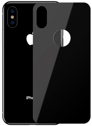Защитное стекло Baseus Full Coverage Tempered Glass Rear Protector (SGAPIPH65-BM01) для iPhone Xs Max (Black)