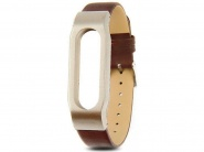 Xiaomi Leather Wrist Band Brown/Gold сменный ремешок для Xiaomi Mi band