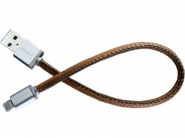 PlusUs LifeStar Lightning to USB Cable Vintage Tan