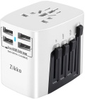 Сетевая зарядка Zikko Worldwide Travel Adaptor BST631 4 USB (Pearl White)