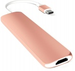 USB-концентратор Satechi Slim Aluminum (ST-CMAR) Type-C Multi-Port Adapter (Rose Gold)
