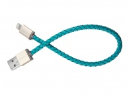 Кабель PlusUs LifeStar Lightning to USB Cable 0.25m (Turquoise)
