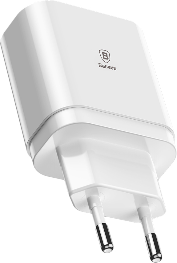 Сетевая зарядка Baseus Mirror Lake Intelligent Digital Display (CCALL-BH02) 3xUSB 3.4A (White)