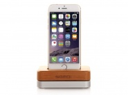 Док-станция Samdi Charger Dock для Apple iPhone (Wood/Silver)