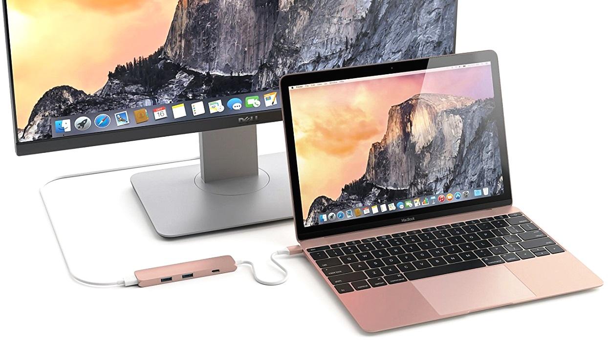 USB-хаб Satechi Slim Aluminum Type-C Multi-Port Adapter