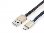 Кабель PlusUs LifeStar Lightning to USB Cable 1m (Denim Blues)