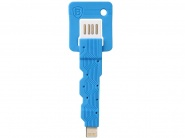Кабель-брелок Baseus Keys Cable для  iPhone (Blue)