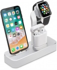Док-станция COTEetCI Base19 Dock (CS7201-TS) для Apple Watch/iPhone/AirPods (Silver)