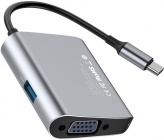 Переходник Baseus Enjoyment Series USB-C - VGA/USB 3.0 (Space Grey)
