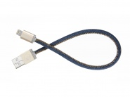 Кабель PlusUs LifeStar Lightning to USB Cable 0.25m (Denim Blues)