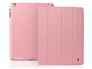 Чехол Jison Smart Leather Case для iPad 2/3/4 (Pink)
